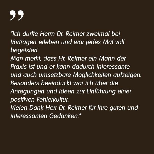 Referenz Schiller Bayern - Dr. Markus Reimer Keynote Speaker Redner Innovation Agilität Qualität Wissen