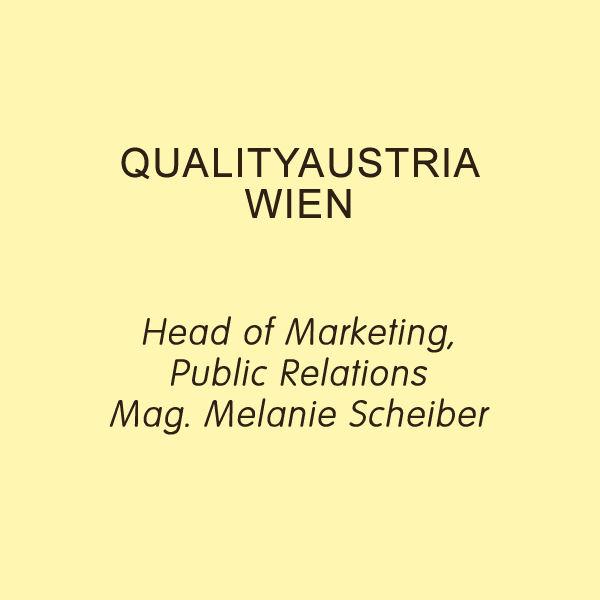Wien Quality Austria Markus Reimer Keynote Speaker Redner Referent Vortrag Innovation Qualität Wissen Agilität