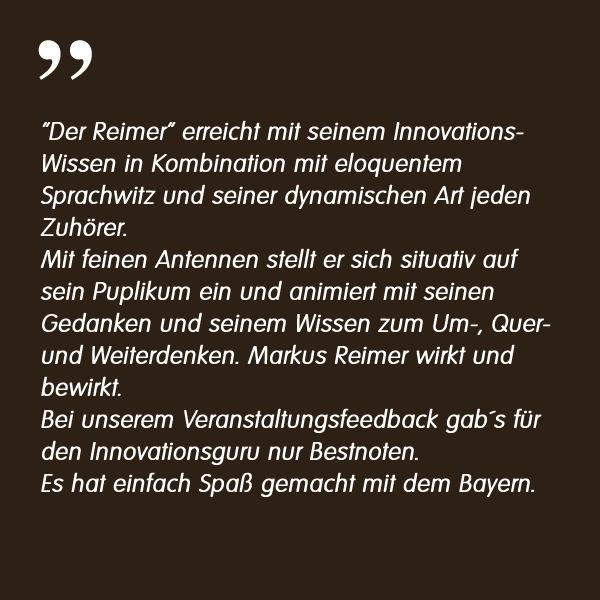 Österreich Sigmatek Markus Reimer Keynote Speaker Redner Referent Vortrag Innovation Agilität Qualität Wissen