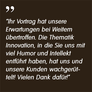 Referenz Remscheid - Markus Reimer - Keynote Speaker Redner Referent Vortrag Qualität Innovation Agilität Wissen