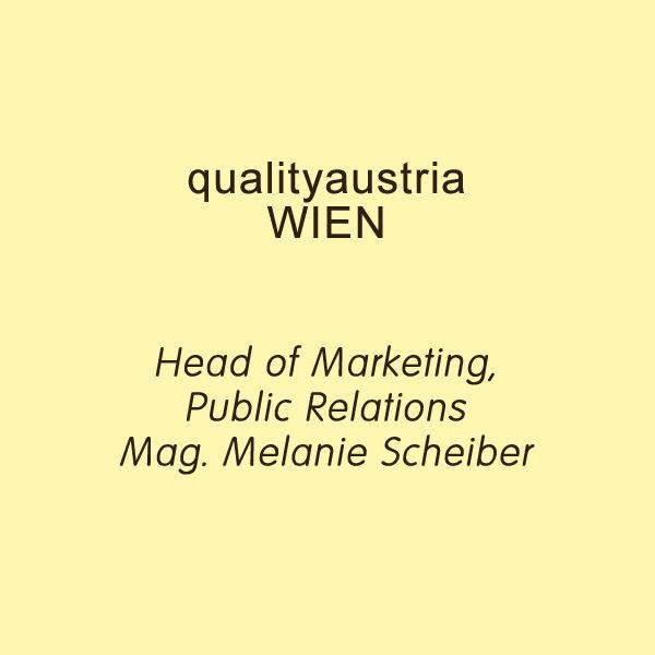 scheiber - qualityaustria - - Referenz zu Dr. Markus Reimer Keynote Speaker / Redner /Referent - Ihr Vortrag zu Innovation. Agilität. Qualität. Wissen.