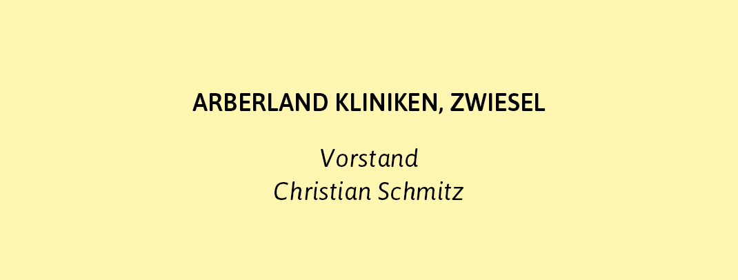 C. Schmitz, Arberland Kliniken, zu Referenz zu Dr. Markus Reimer - Keynote Speaker / Redner /Referent - Ihr Vortrag zu Innovation. Agilität. Qualität. Wissen.