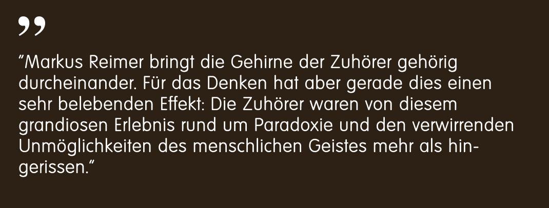 Landauer Neue Presse über Markus Reimer - Keynote Speaker Redner Innovation Agilität Wissen Qualität Philosophie